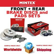 MINTEX FRONT + REAR BRAKE DISCS + PADS for JEEP WRANGLER III 2.8 CRD 2010->on