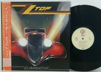 ZZ Top ‎– Eliminator LP 1983 Japan Warner P-11357 MOTORHEAD BLUES ROCK w/ obi