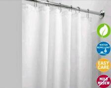 New Solid Water Repellant Bathroom Shower Curtain Vinyl Plastic Liner White