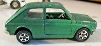 FIAT 127 rara colorazione VERDE METALLIZZATO - MEBETOYS 1/43 anni 70