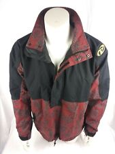 Rare Vintage Burton Snowboard Jacket Indian Tribal Sz M Black Red blue