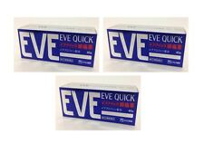 EVE Quick 40 3Packs Headache Pain Relief  Japan FREE AIR Shipping with TRACKING