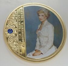 Princess Lady Diana Gold Coin Jewel Signed London Royalty Prince William George