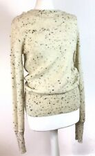 Isabel Marant Lana Wool Speckled Beige Sweater Jumper Knitter Pullover 40 10 12