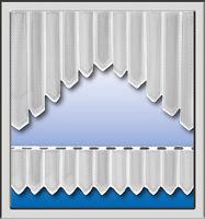 Scheibengardine Bistrogardine Jacquard Bogen Set Küchengardine Panneaux 2324