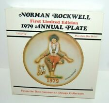 Vintage Norman Rockwell 1979 Annual Plate Leapfrog Porcelain Bas Relief