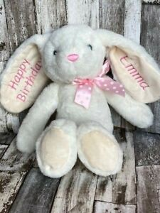 Personalised Embroidered Bunny Rabbit Birthday Gift Baby Soft Toy Teddy Bear