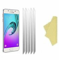 5 X Clear Plastic Screen Guard LCD Protector For Samsung Galaxy A3 2017 (A320)
