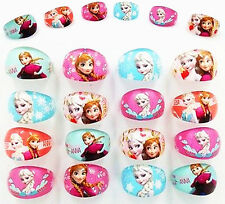 100Ps Wholesale Mixed Lots Cartoon Girls Princess Children Resin Lucite Rings
