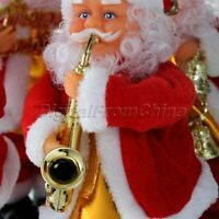 Xmas Gift Playing Guitar Electric Musical Step On Toy Christmas Santa Claus Doll