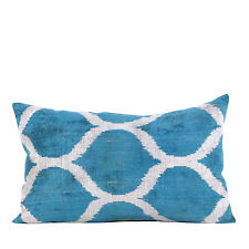 "16"" x 26"" Pillow Cover Velvet Ikat Pillow Cover FAST Shipment With UPS 10694-02"