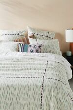 NEW ANTHROPOLOGIE SUNO EMBROIDERED CATALAN DUVET COVER QUEEN