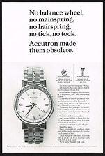 1960s Vintage Bulova Accutron 209 Model Watch Paper Photo Print Ad