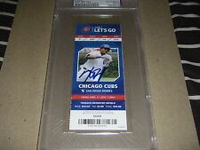 KRIS BRYANT SIGNED MLB DEBUT GAME SEASON TICKET STUB PSA COA 4/17/15