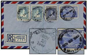 NEWFOUNDLAND 22¢ AIR REGISTRATION / ST. JOHNS EAST PO 1948