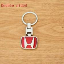 Metal double side Car Logo keyring keychain key chain pendant Key for Honda