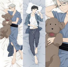 "59"" Handsome YURI on ICE Anime Pillow Case Otaku Japanese Dakimakura Hug Body"