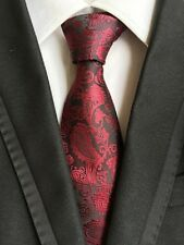 Tie Silk 100% New Necktie Wedding Floral Paisley JACQUARD WOVEN Fashion Men's