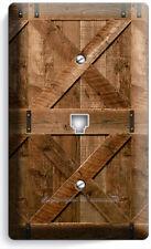 RUSTIC WOOD RANCH BARN DOOR PHONE TELEPHONE WALL PLATE COVER LOG CABIN ART DECOR