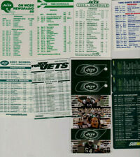 23 New York Jets NFL football schedules 1988-2017--12 Hess schedules- 11 Misc.