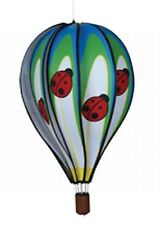 "22"" Ladybug Hot Air Balloon Hanging Wind Spinner Windsock"