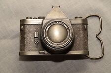 35mm Camera Belt Buckle, Made in USA by Bergamot Brass Works - Never Used