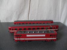 Vintage Train Jouef Locomotive BB 9288 + 2 Wagons Le Capitole HO