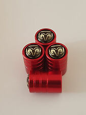 DODGE SILVER RED DELUXE car Valve Alloy wheel dust Caps ALL MODELS DART NITRO