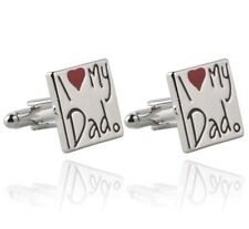 Dad Cuff links stainless steel wedding Christmas I love my dad free box
