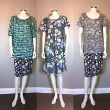 LuLaRoe Outfit Carly Cassie Skirt Irma Classic T SS Lot of 4 NWT Sz Large #Q18