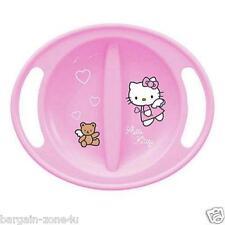 Hello Kitty nel forno a microonde ad alta qualità rosa in plastica Piastre Baby tavola posate