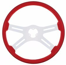 "18"" STEERING WHEEL  (RED) PETERBILT  KENWORTH  FREIGHTLINER INTERNATIONAL"