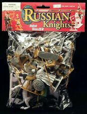 Russian Knights Bagged Playset - 16 Figure with Weapons & 4 Horses 1/32 Scale