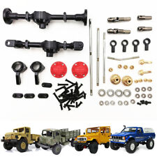 For WPL B14 B24 C1 C24 C34 Upgraded Metal Front Rear Axle Shell+Steering Rod Kit