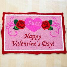 2.6x1.6 Ft Happy Valentine Bath Door Rug Home Washable Doormat Rug Floor Mat Hot