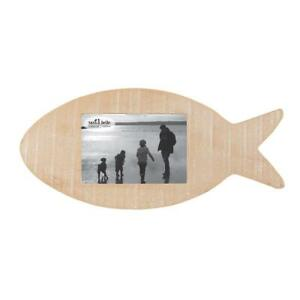 Sass & Belle Rustic Fish Hanging & Standing Photo Frame Pine Shabby Chic