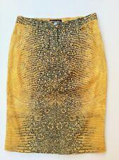 Roberto Cavalli denim vintage Skirt snake pattern silver thread size L