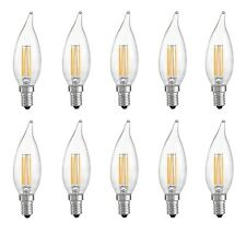 X10 LAMPADINA CANDELA 4W LED FILAMENTO E14 FIAMMA LAMPADA LUCE CALDA 2700K