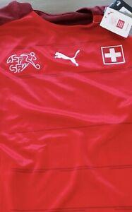 NWT Puma 2021-22 Switzerland Home Jersey - Puma Red - Mens Medium