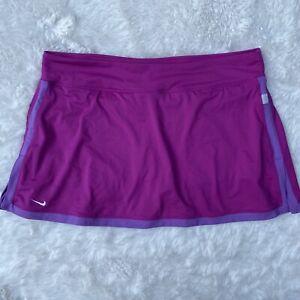 Nike Women's XL Dri Fit Pink Purple Skort Skirt Tennis Golf Size Stretch