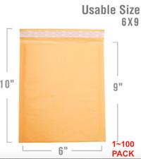 New Listing0 6x10 6x9 Kraft Bubble Mailer Self Seal Shipping Bag Envelope 5102550100