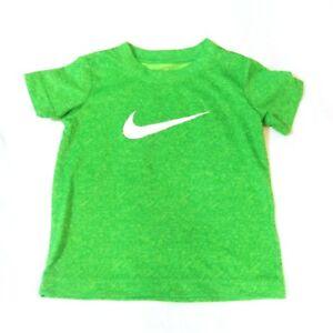 Nike Dri Fit Toddler Green Short Sleeve T Shirt Size 2T EUC