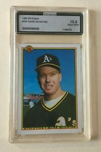 1990 Bowman MARK McGWIRE #454 Card AGS GEM MINT 10 Oakland A's Free Shipping!