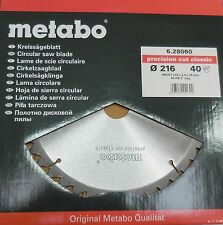 Metabo Precision Cut Classic Kreissägeblatt KGS 216 HW/CT 216x2,4x30  40 WZ