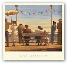 RETRO ART PRINT The Pier Jack Vettriano