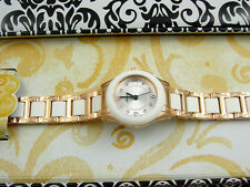 BRIGHTON Rosegold / White BABY BROOKLYN Watch ~ NEW IN TIN