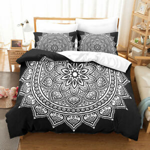 Twin Queen King Indian Mandala Duvet Cover Pillow Case Quilt Cover Bedding Set
