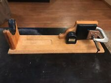 Rare Vintage Decker Shooting Products Wood & Leather Rifle Rest & Vice 30