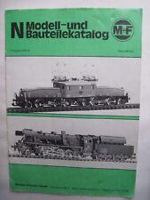 M&F Merker und Fischer Spur N Katalog von 1978/79