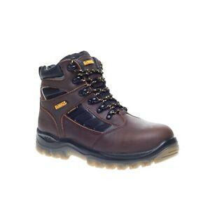 DeWalt Hudson Boots S3 Safety Steel Toecap Water Resistant 100% Leather
